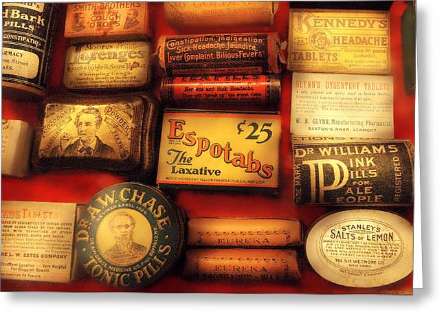 Pharmacist - The Druggist Greeting Card by Mike Savad