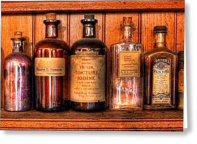 Pharmacy - Medicine Bottles II Greeting Card by Lee Dos Santos