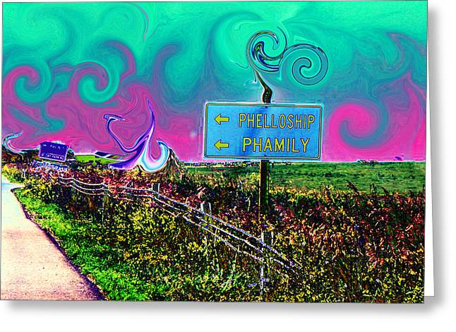 Phellowship And Phamily Greeting Card by Kevin J Cooper Artwork