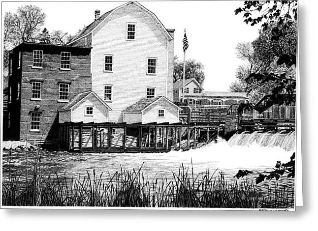 Phelps Mill Greeting Card by Rob Christensen
