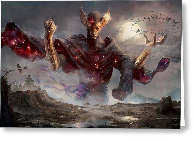 Phenax God Of Deception Greeting Card by Ryan Barger