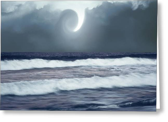 Greeting Card featuring the photograph Phenomenon Above The Sea by Kellice Swaggerty