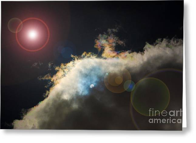 Phenomenon With Lens Flare Greeting Card