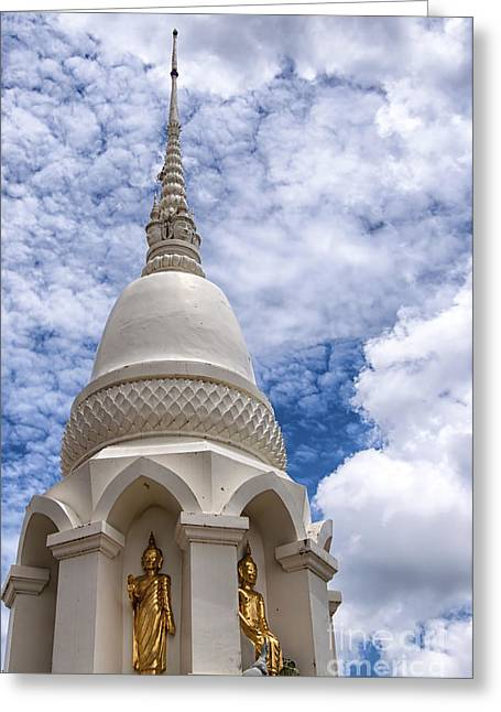 Phetchaburi Temple 16 Greeting Card by Antony McAulay