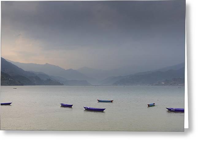 Phewa Lake In Pokhara Greeting Card
