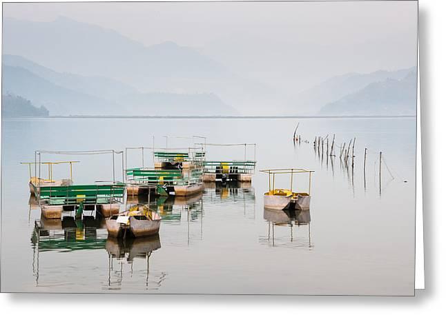 Phewa Lake In Pokhara Nepal Greeting Card