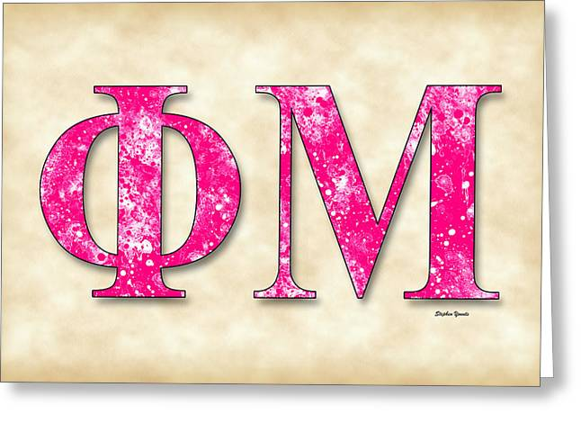 Phi Mu - Parchment Greeting Card by Stephen Younts