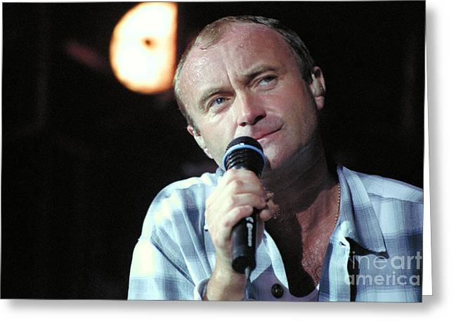 Phil Collins - 38 Greeting Card by Timothy Bischoff
