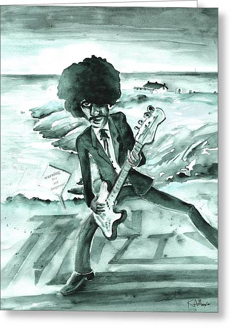 Phil Lynott In Howth Greeting Card