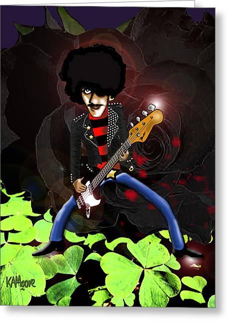 Phil Lynott Of Thin Lizzy Greeting Card