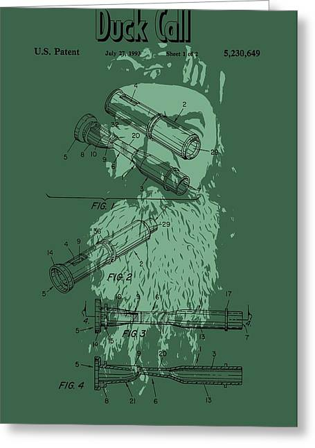 Phil Robertson Duck Call Legacy Greeting Card by Dan Sproul