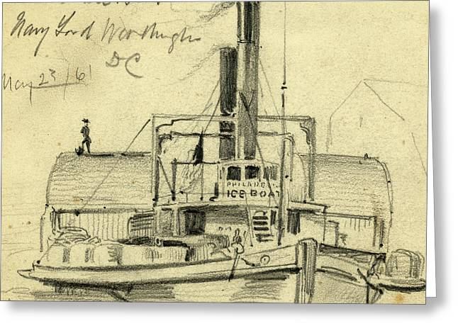 Phila. Ice Boat. Navy Yard. Washington Dc May 2361 Greeting Card by Quint Lox