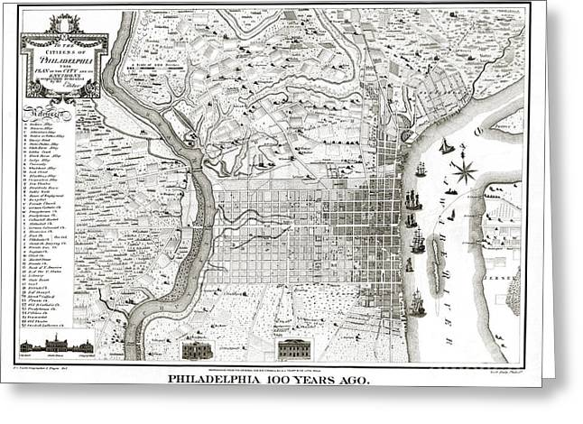 Philadelphia - Pennsylvania - United States - 1875 Greeting Card