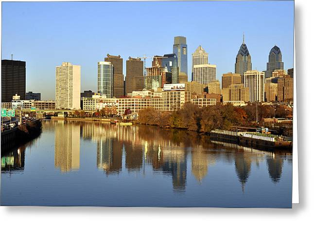 Philadelphia 1 Greeting Card by Andrew Dinh