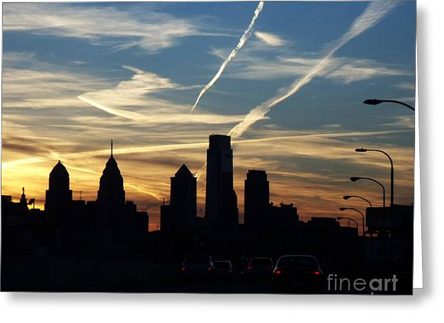 Philadelphia At Dusk Greeting Card