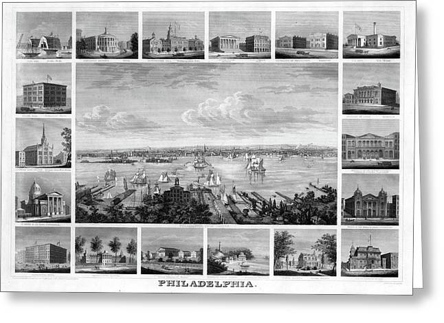 Philadelphia, C1862 Greeting Card by Granger