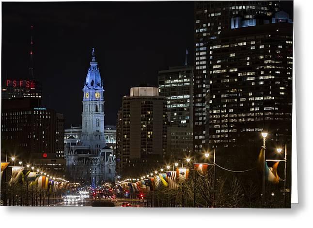 Philadelphia City Hall Greeting Card by Eduard Moldoveanu