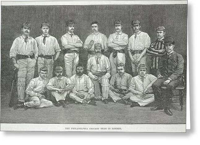 Philadelphia Cricket Team Greeting Card by British Library