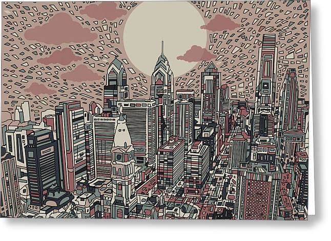 Philadelphia Dream 3 Greeting Card by Bekim Art