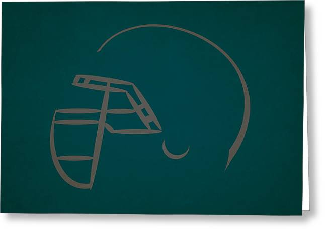 Philadelphia Eagles Helmet Greeting Card by Joe Hamilton