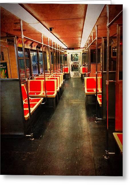 Philadelphia - Empty Car Greeting Card by Richard Reeve