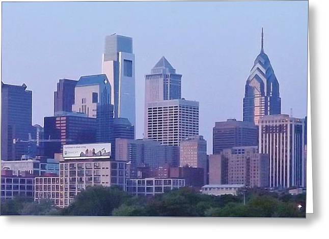 Philadelphia  Greeting Card by John Wartman