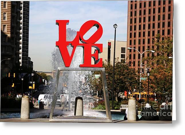 Philadelphia Love Greeting Card by John Rizzuto