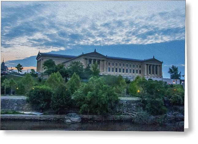 Philadelphia Museum Of Art From The South Side Greeting Card by Bill Cannon