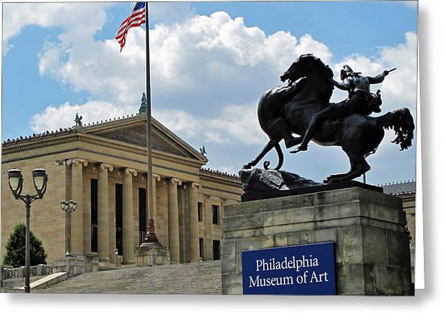 Philadelphia Museum Of Art Greeting Card by Ian  MacDonald