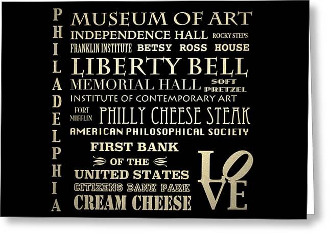 Philadelphia Pennsylvania Famous Landmarks Greeting Card by Patricia Lintner