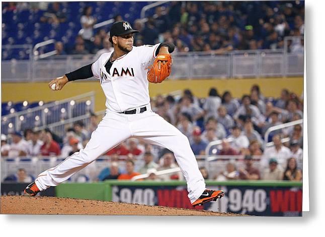 Philadelphia Phillies V Miami Marlins Greeting Card