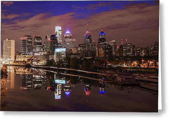 Philadelphia - Reflections On The Schuylkill River Greeting Card