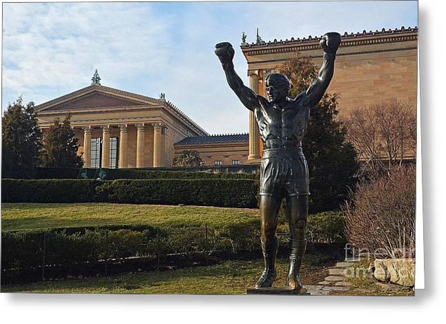 Philadelphia - Rocky  Greeting Card by Cindy Manero