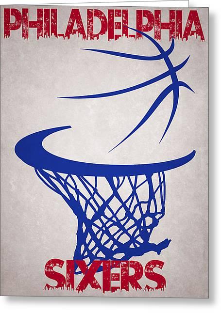Philadelphia Sixers Hoop Greeting Card