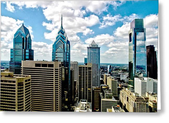 Philadelphia Skyline Greeting Card by Frank Savarese