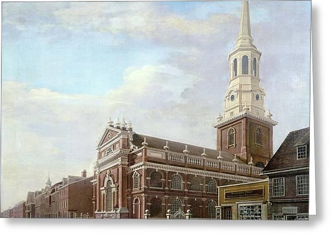 Philadelphia Street, 1811 Greeting Card by Granger