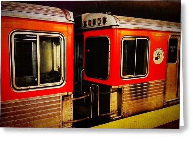 Philadelphia - Subway Train 1 Greeting Card by Richard Reeve