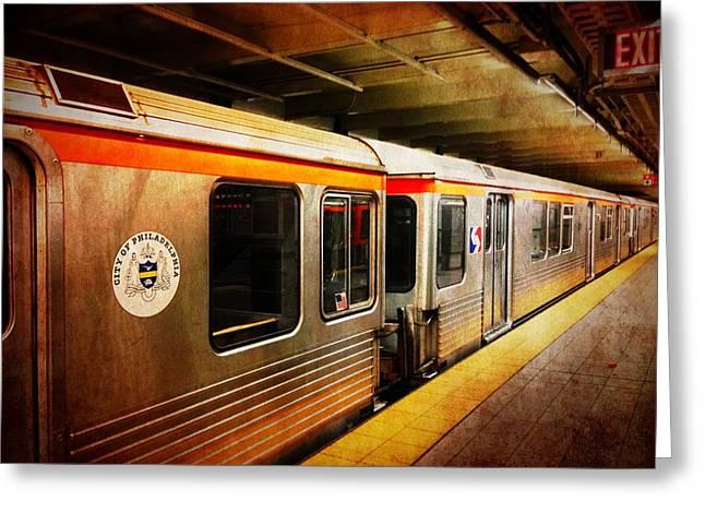 Philadelphia - Waiting Train Greeting Card by Richard Reeve