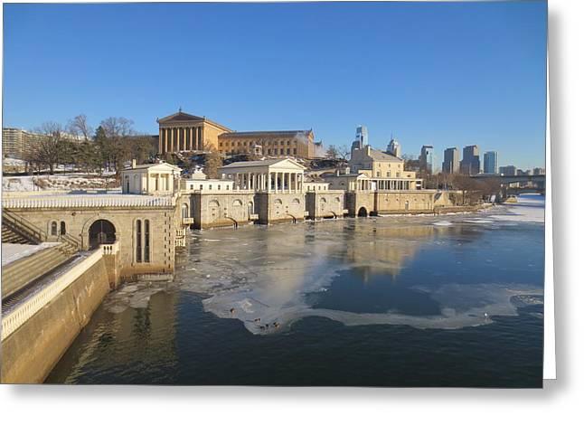 Philadelphia Water Works Greeting Card by Richard Gellette