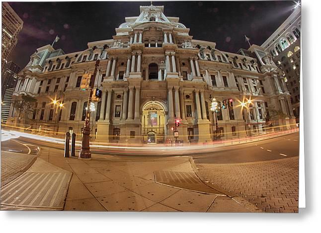 Philadelphia's Golden Glow  Greeting Card