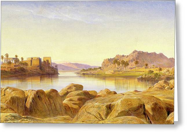 Philae, Egypt, Edward Lear, 1812-1888 Greeting Card by Litz Collection