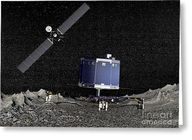 Philae Lander On Surface Of A Comet Greeting Card