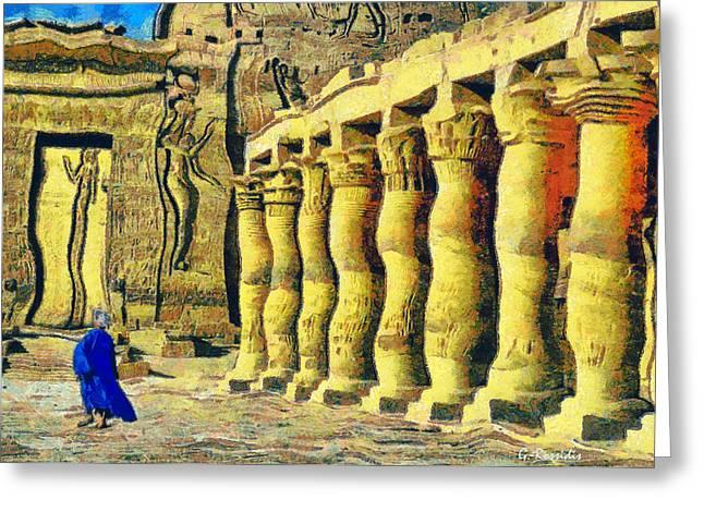 Philae Temple Greeting Card by George Rossidis
