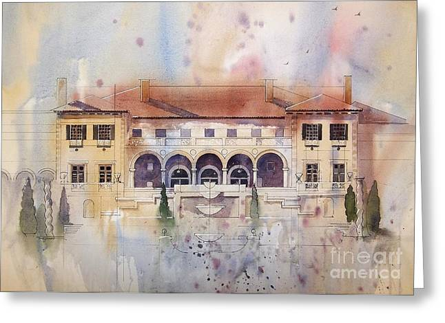 Philbrook Museum Tulsa Greeting Card by Micheal Jones