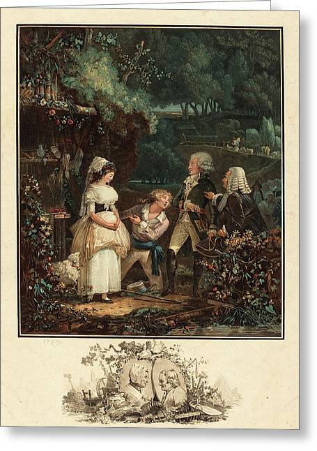 Philibert-louis Debucourt French, 1755 - 1832, Annette Et Greeting Card