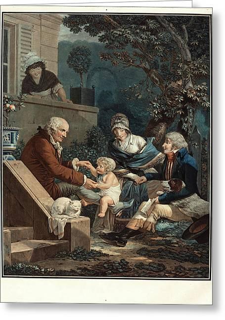 Philibert-louis Debucourt, French 1755-1832 Greeting Card