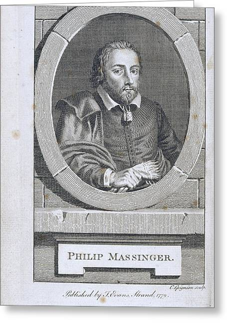 Philip Massinger Greeting Card by British Library