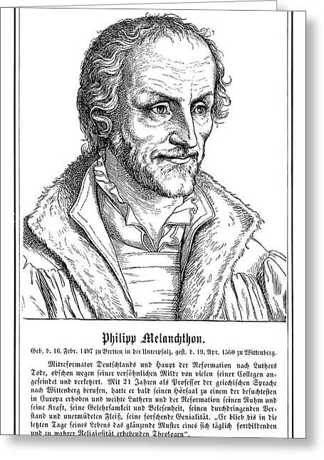 Philip Melanchthon (1497-1560) Greeting Card