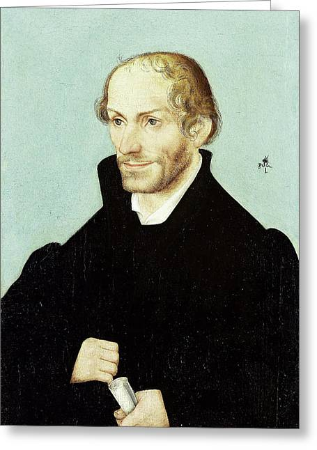 Philipp Melanchthon, Church Reformer, Workshop Of Lucas Greeting Card