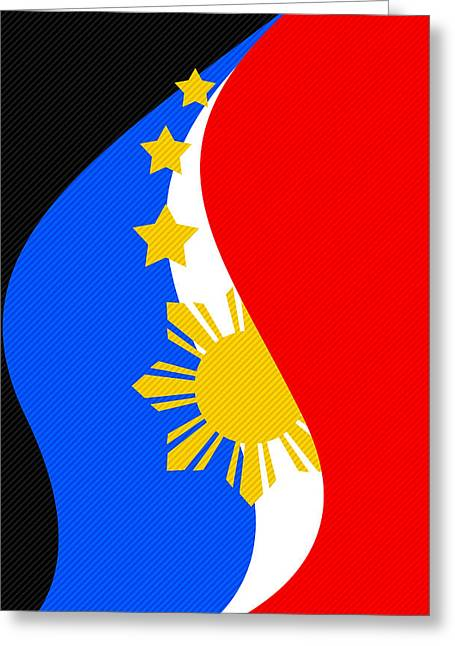 Philippine Flag Mobile Phone Case Design Greeting Card by Jerome Obille